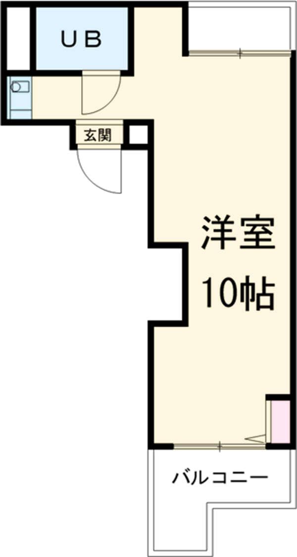 ラフィネ新栄 5011号室の間取り