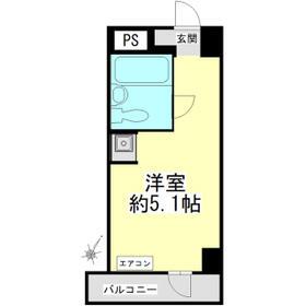 トップ・ルーム品川 201号室の間取り