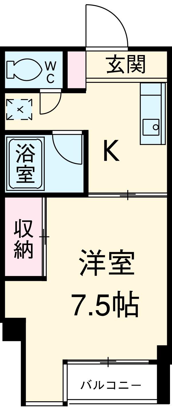 紋新ビルディング・555号室の間取り