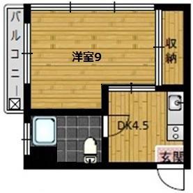 豊田ハイツ・205号室の間取り