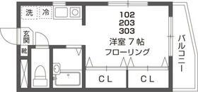 エクセル高輪・303号室の間取り
