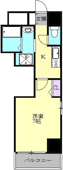 PONTE ALTO 新栄・702号室の間取り