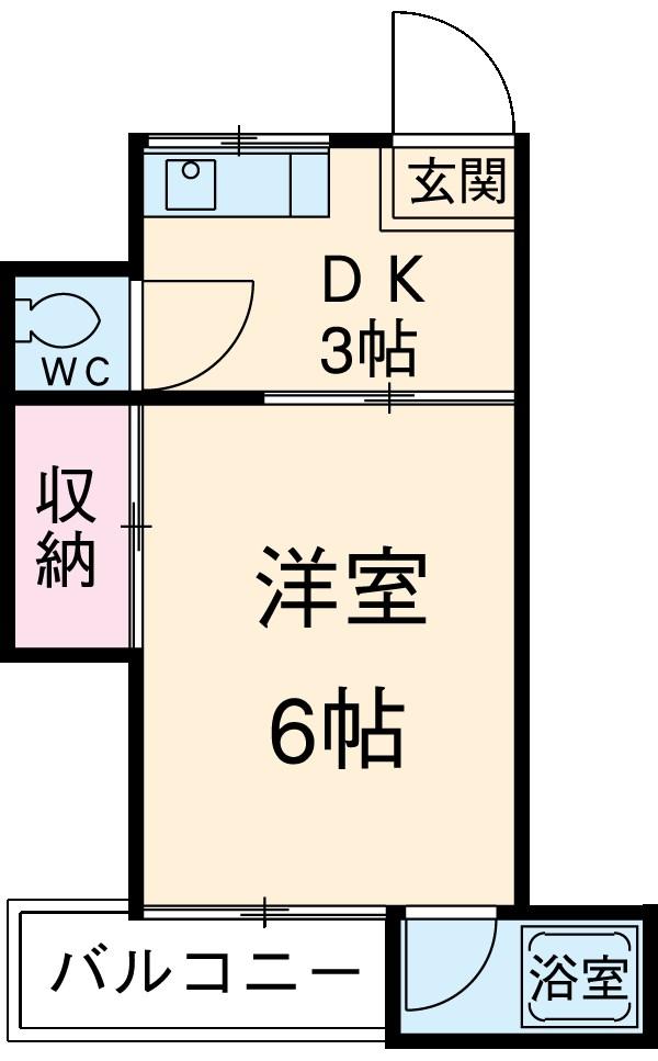ハイツカワベ 202号室の間取り