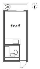 鹿島ハイツ戸越 205号室の間取り