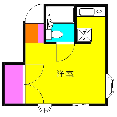 第二ローレルハイツ大岡山 201号室の間取り