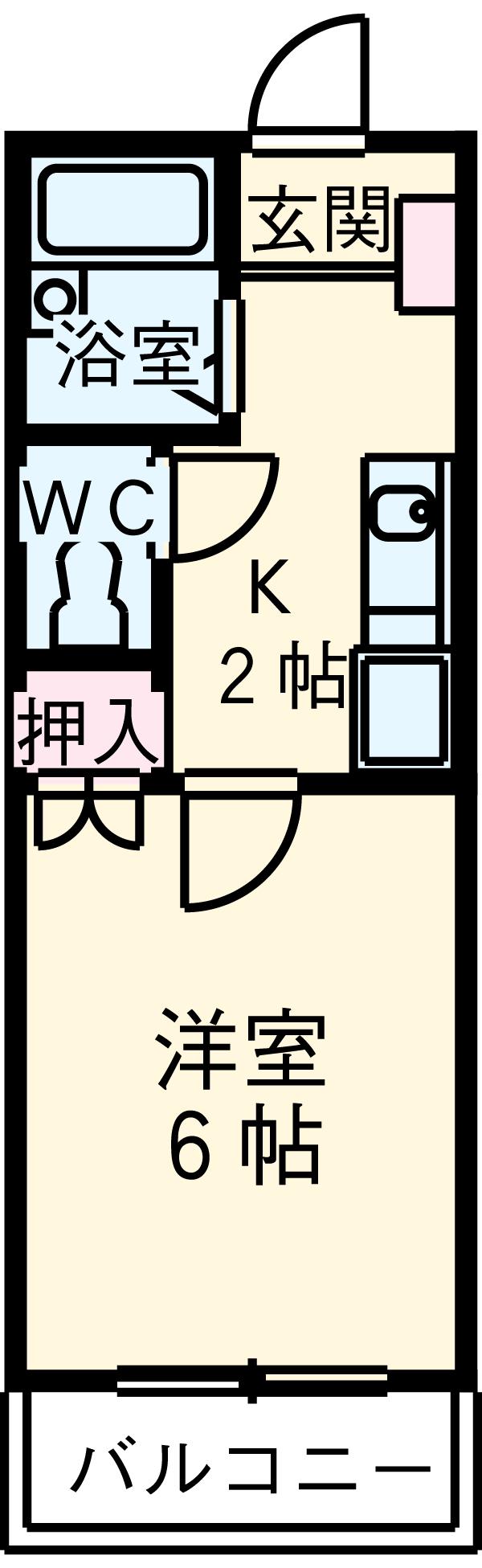 CBドリーム関山Ⅱ・202号室の間取り