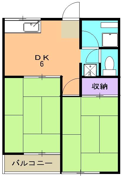 レイディアント彩二番館・203号室の間取り
