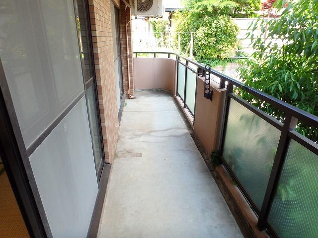 グランデ土橋Ⅱ 206号室のバルコニー