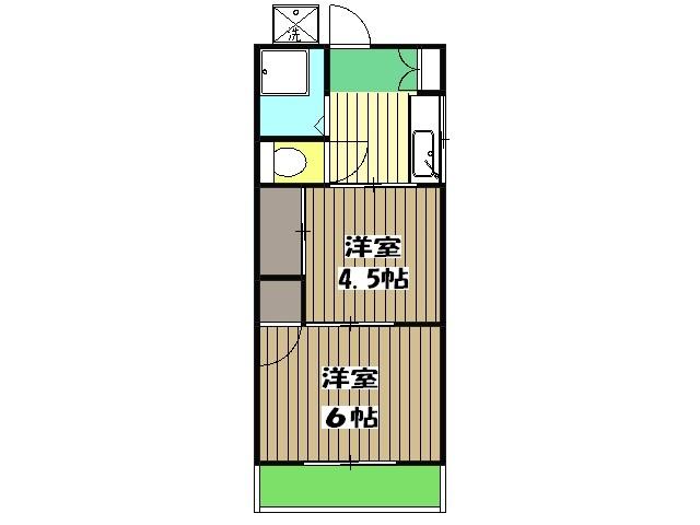 柴崎荘・203号室の間取り