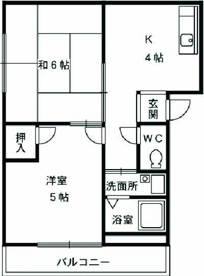 三沢第2マンションりわ 317号室の間取り