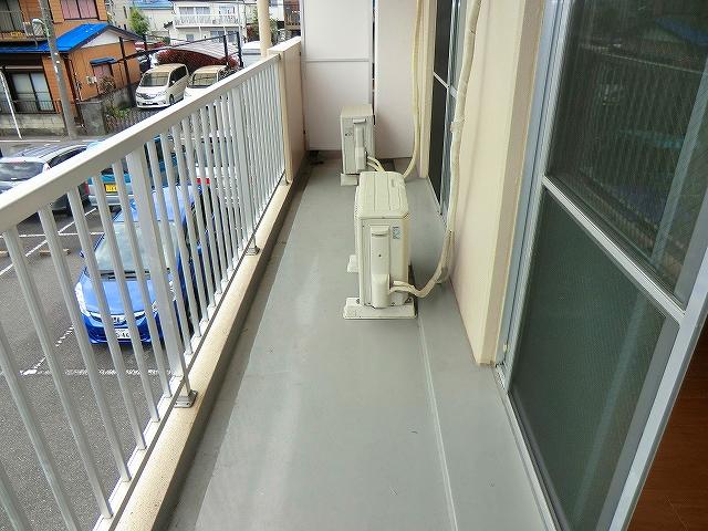 シャトーホソダA 203号室のバルコニー