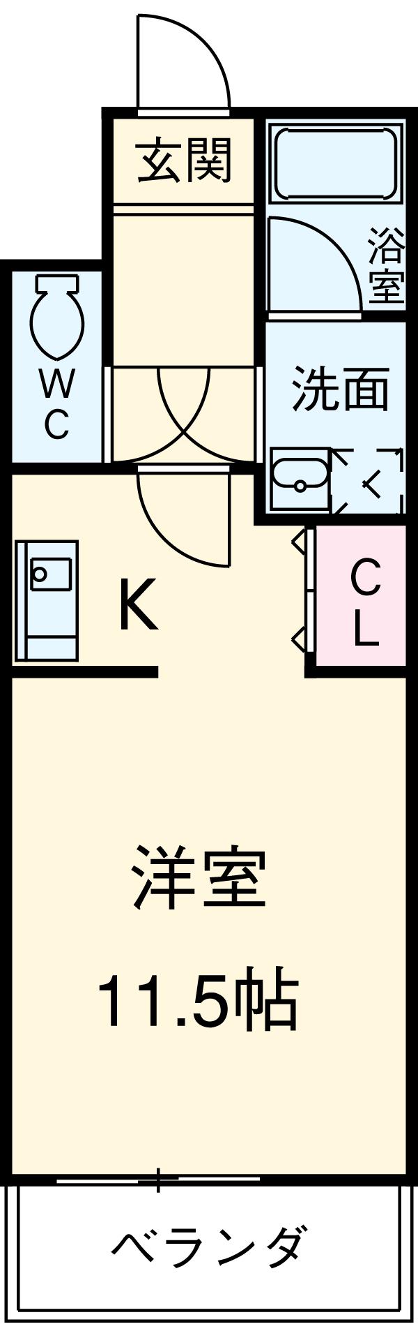 ビオラ名駅西・701号室の間取り