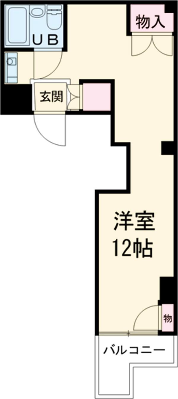 ラフィネ新栄 6011号室の間取り