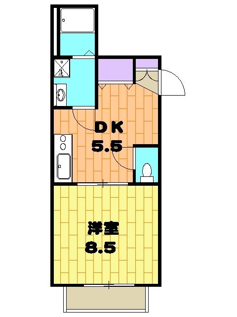 エントピア(8)・102号室の間取り