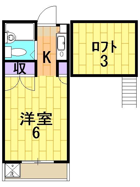 ユニオンK 206号室の間取り