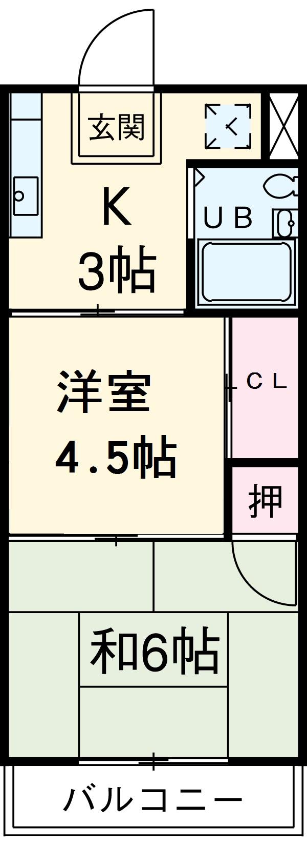 玄武堂ビル・2C号室の間取り