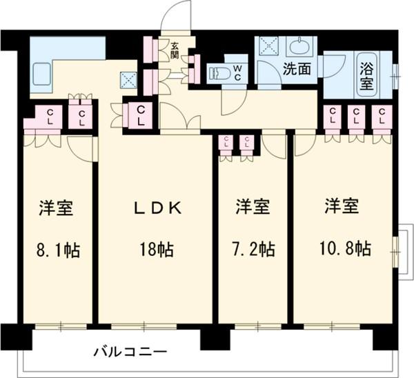 グラン・アベニュー名駅・1409号室の間取り