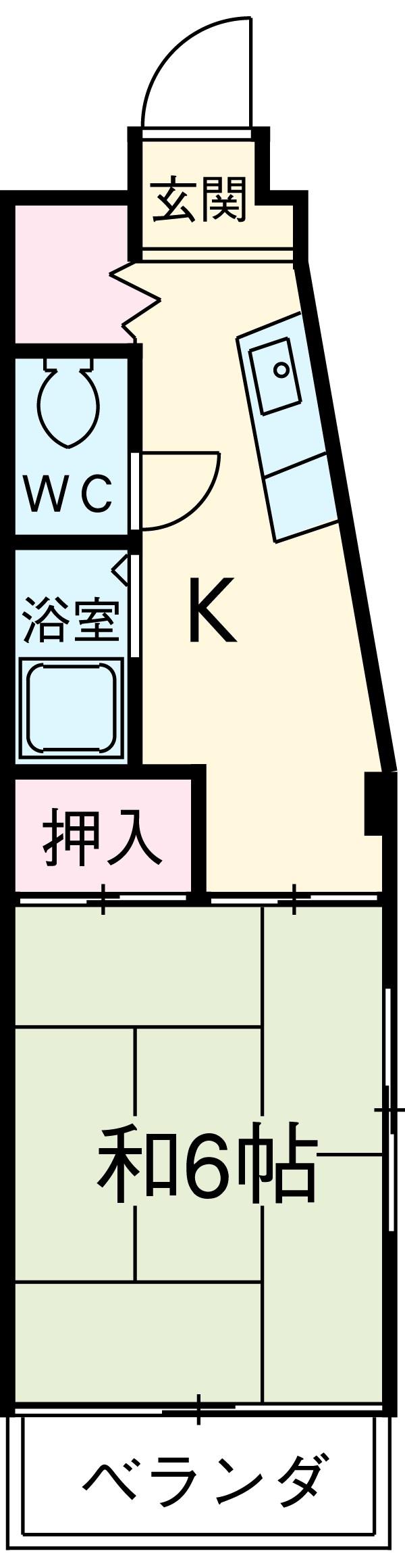 第3犬飼マンション・3A号室の間取り