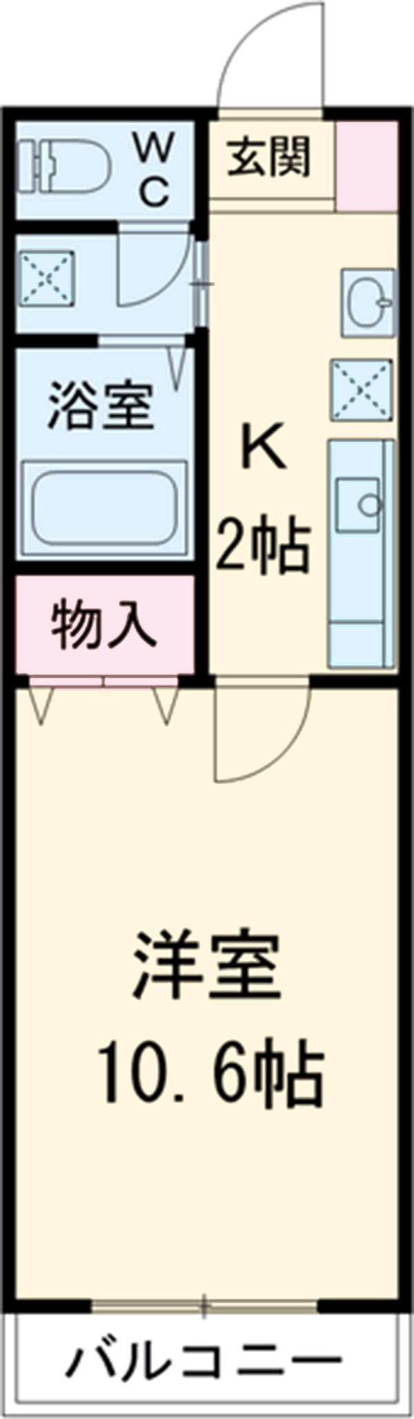 KHグランドールⅡ 202号室の間取り