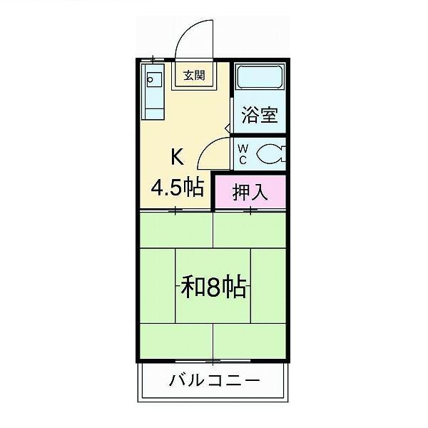 ファミーユミカミ 203号室の間取り