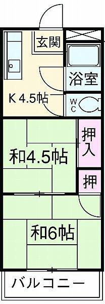 田中マンション 203号室の間取り