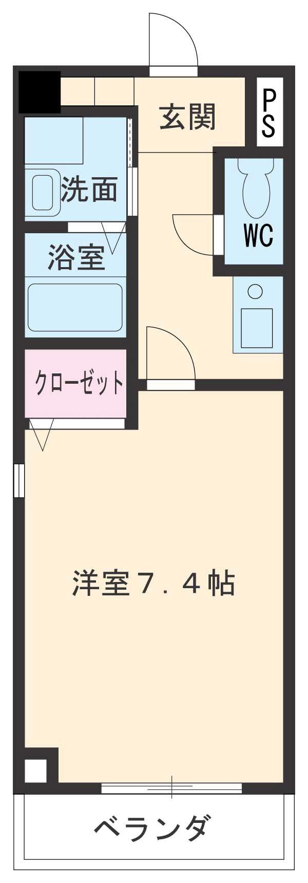CRECER新栄 102号室の間取り