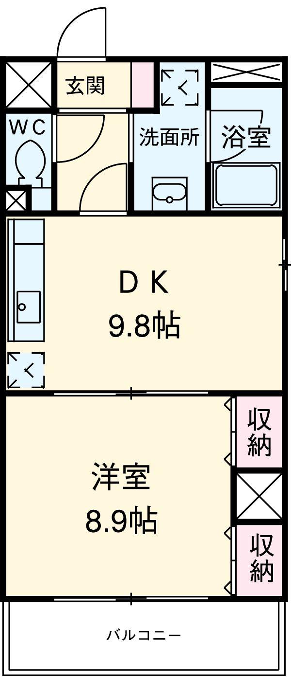スカイフラット名古屋・405号室の間取り