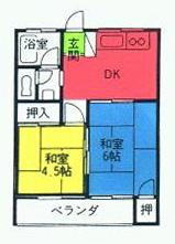 メゾン新井 202号室の間取り