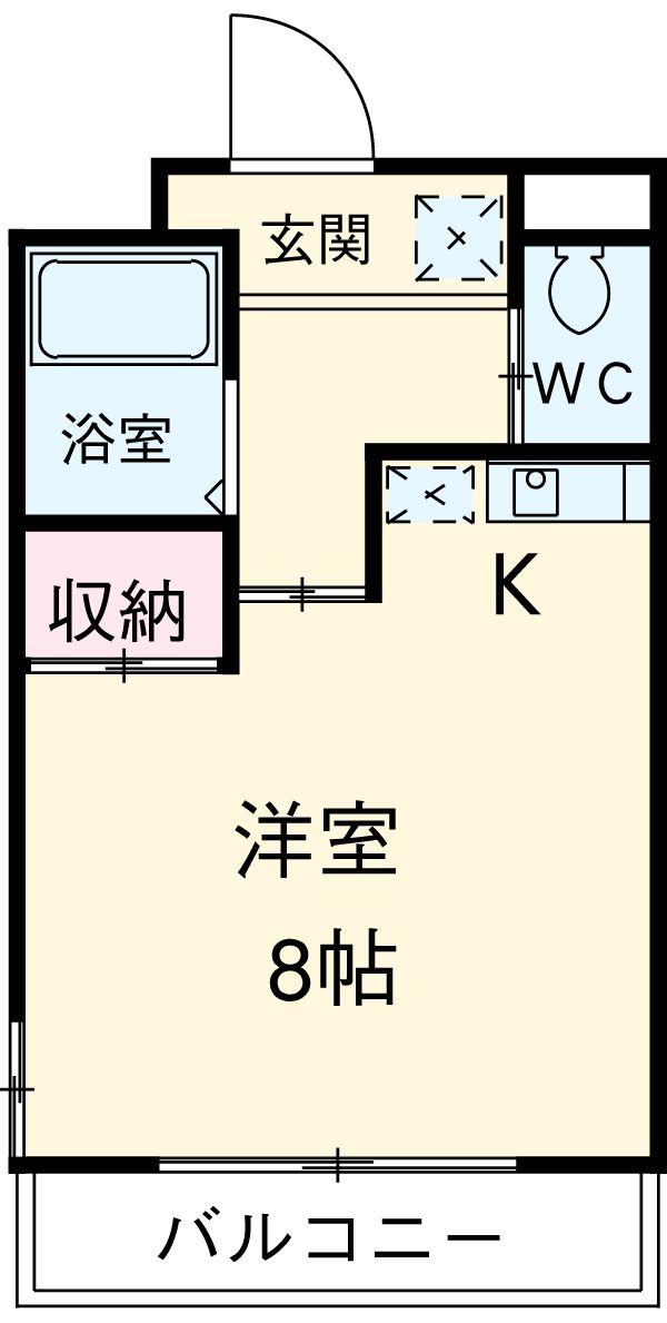 ドール新栄 302号室の間取り