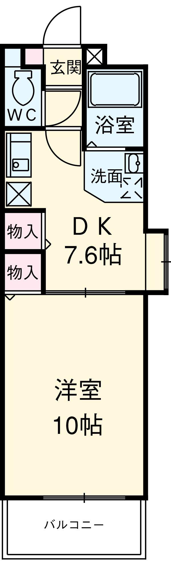 Grance Kotobuki 901号室の間取り