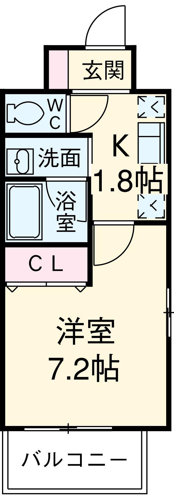 クレジデンス新栄 402号室の間取り