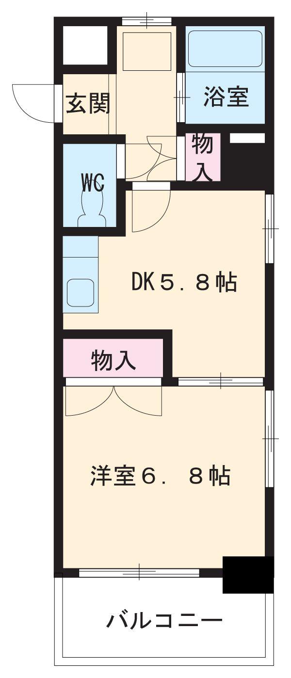 シャンポール大須・307号室の間取り