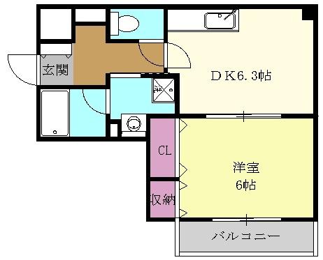 ガーディアン千代田 301号室の間取り