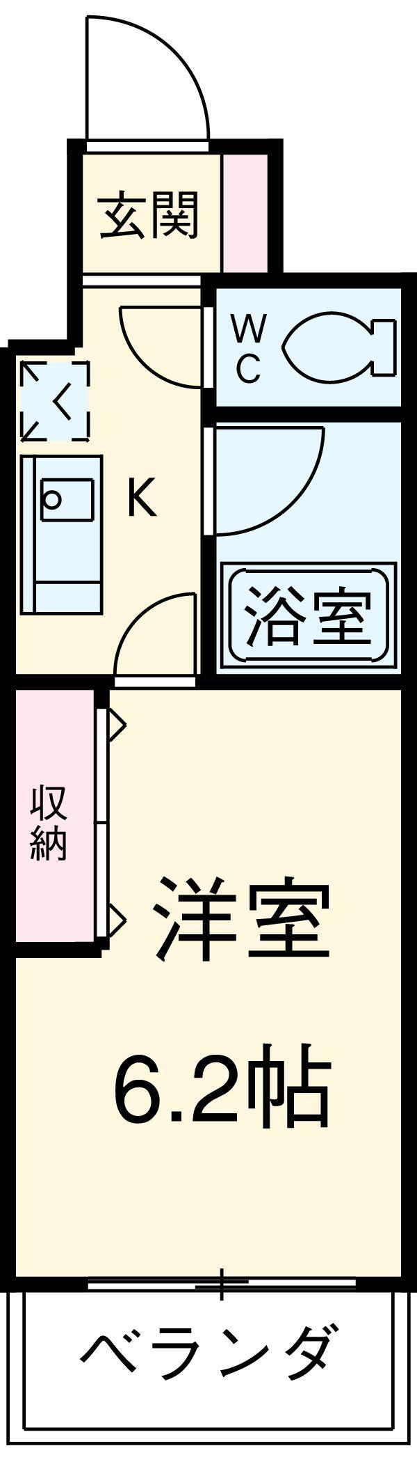 アレンダール大須 1101号室の間取り