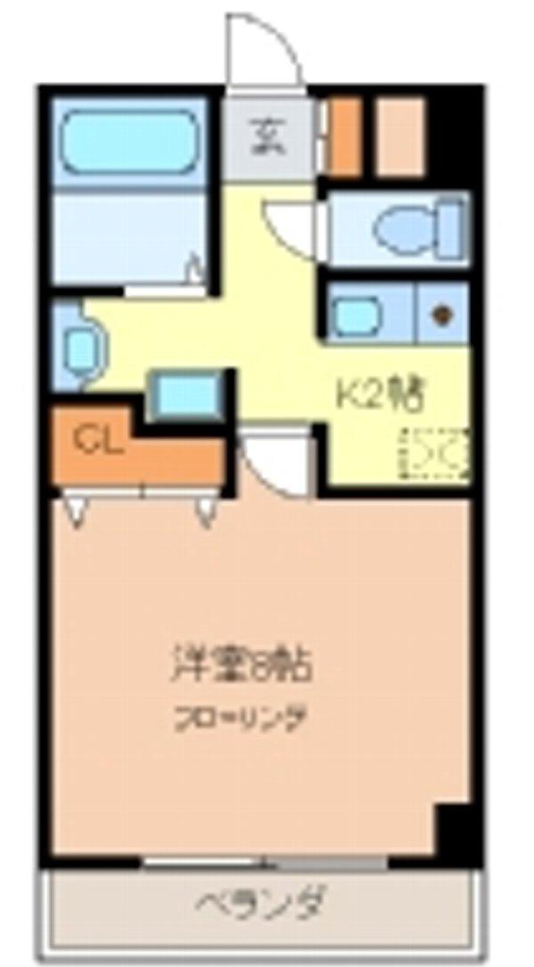キャノンピア鶴舞 303号室の間取り