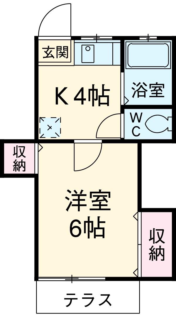 プレジデント湘南・103号室の間取り