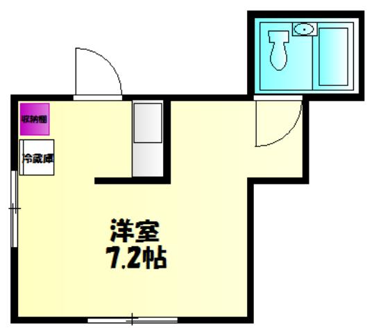 丸山アパート・101号室の間取り