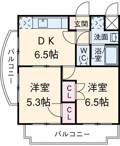 グリーンガーデン東戸塚・101号室の間取り