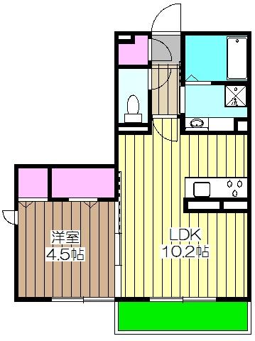 サン・ヴェール・A101号室の間取り