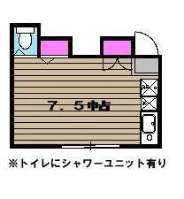 コーポ山田・206号室の間取り