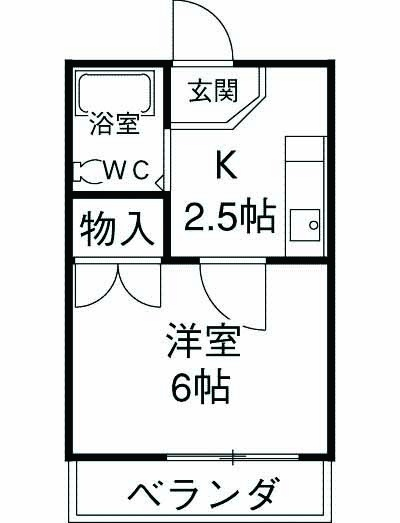 サンライズ須崎・403号室の間取り