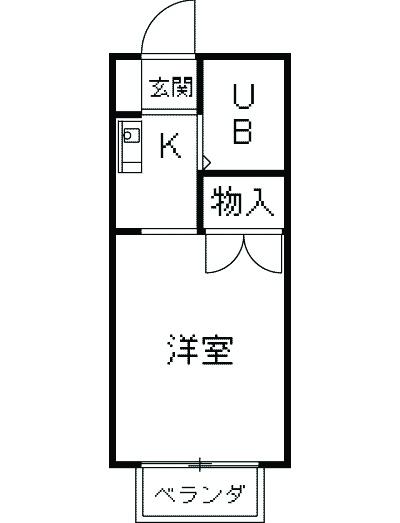 シャトー武蔵野・106号室の間取り