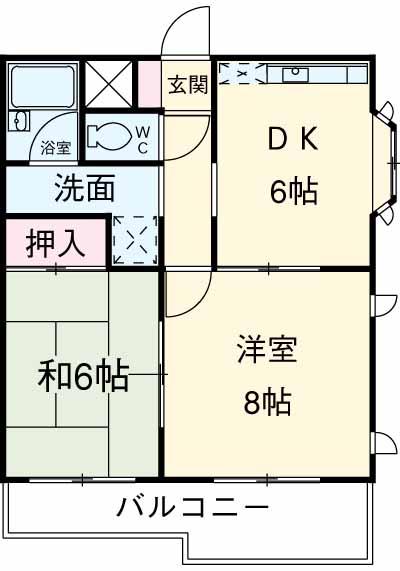 アビタ武蔵野・105号室の間取り