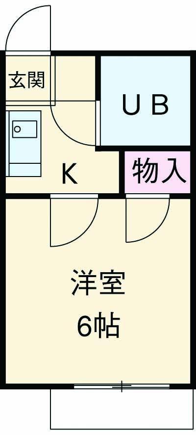 三井ハイツ 203号室の間取り