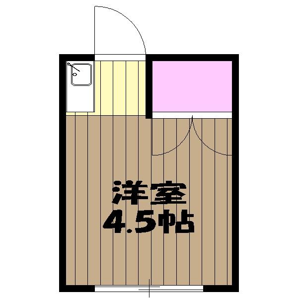 宮崎荘・10号室の間取り