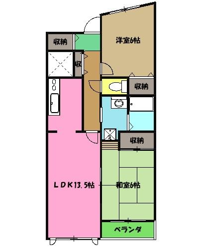 日吉Aー2 103号室の間取り