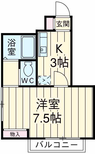 仲松マンション・503号室の間取り
