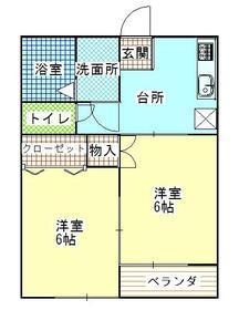 エンジェル・ムサシノⅡ・203号室の間取り
