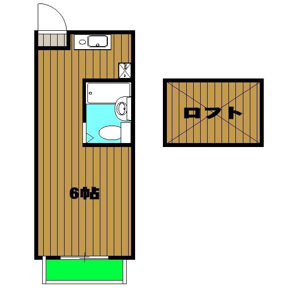 グリーンハイツロイヤル・00201号室の間取り