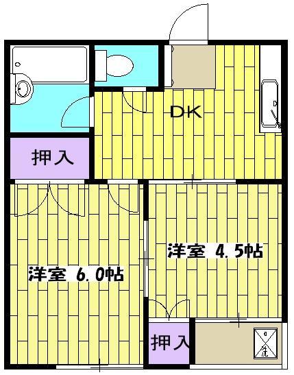 ストークハイツ中田 00202号室の間取り